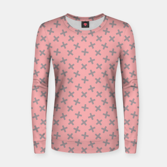 ULTIMATE GRAY / PINK - CROSSES 2 Women sweater thumbnail image