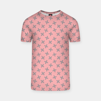 Thumbnail image of ULTIMATE GRAY / PINK - CROSSES 2 T-shirt, Live Heroes