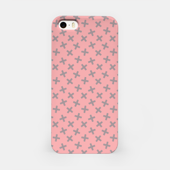 ULTIMATE GRAY / PINK - CROSSES 2 iPhone Case thumbnail image