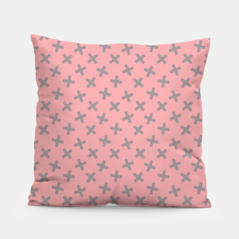 Thumbnail image of ULTIMATE GRAY / PINK - CROSSES 2 Pillow, Live Heroes