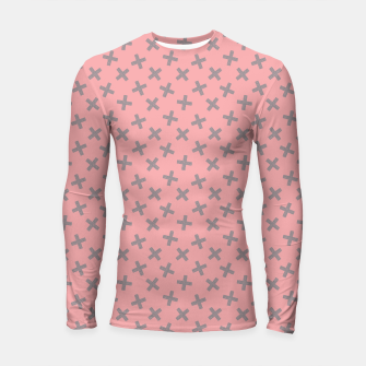 Thumbnail image of ULTIMATE GRAY / PINK - CROSSES 2 Longsleeve rashguard , Live Heroes