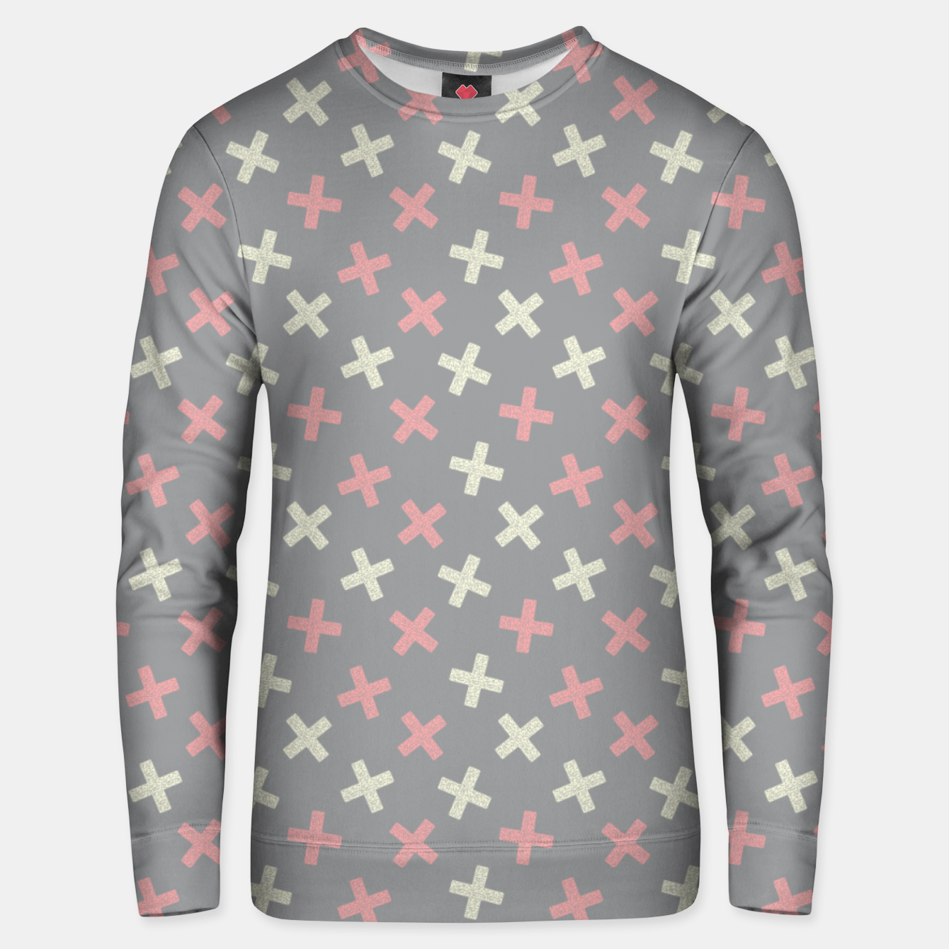 Image of ULTIMATE GRAY / PINK - CROSSES 1 Unisex sweater - Live Heroes