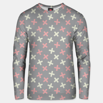 Thumbnail image of ULTIMATE GRAY / PINK - CROSSES 1 Unisex sweater, Live Heroes