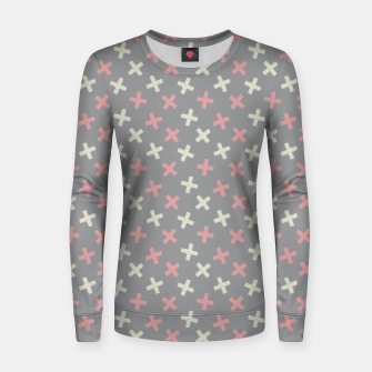 Thumbnail image of ULTIMATE GRAY / PINK - CROSSES 1 Women sweater, Live Heroes