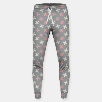 Thumbnail image of ULTIMATE GRAY / PINK - CROSSES 1 Sweatpants, Live Heroes