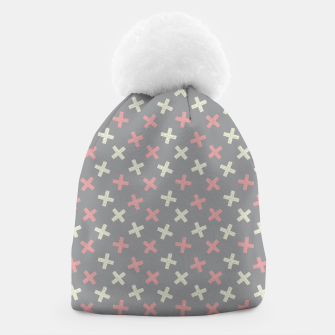 Thumbnail image of ULTIMATE GRAY / PINK - CROSSES 1 Beanie, Live Heroes