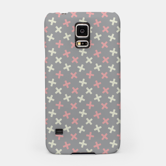 Thumbnail image of ULTIMATE GRAY / PINK - CROSSES 1 Samsung Case, Live Heroes