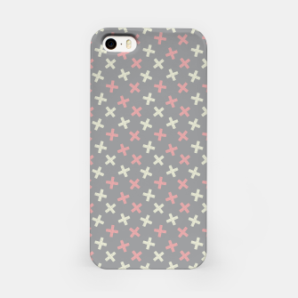 Thumbnail image of ULTIMATE GRAY / PINK - CROSSES 1 iPhone Case, Live Heroes