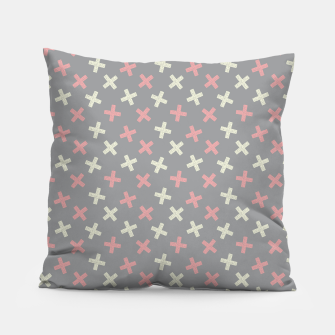 Thumbnail image of ULTIMATE GRAY / PINK - CROSSES 1 Pillow, Live Heroes