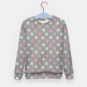 Thumbnail image of ULTIMATE GRAY / PINK - CROSSES 1 Kid's sweater, Live Heroes
