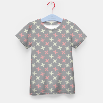 Thumbnail image of ULTIMATE GRAY / PINK - CROSSES 1 Kid's t-shirt, Live Heroes