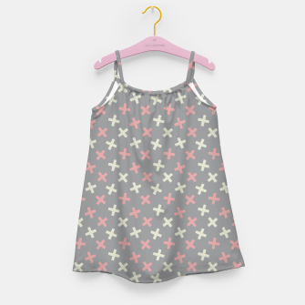 Thumbnail image of ULTIMATE GRAY / PINK - CROSSES 1 Girl's dress, Live Heroes