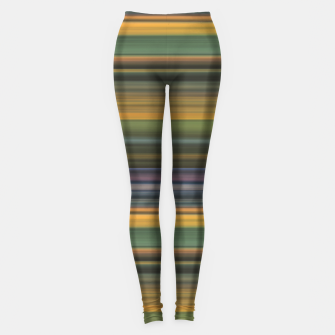 Thumbnail image of Multicolored Linear Abstract Pattern Leggings, Live Heroes
