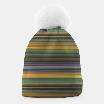 Thumbnail image of Multicolored Linear Abstract Pattern Beanie, Live Heroes
