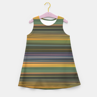Thumbnail image of Multicolored Linear Abstract Pattern Girl's summer dress, Live Heroes