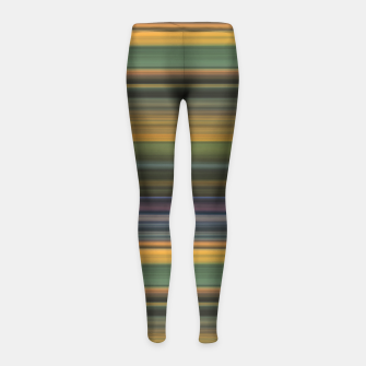 Miniature de image de Multicolored Linear Abstract Pattern Girl's leggings, Live Heroes
