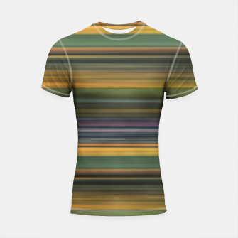 Thumbnail image of Multicolored Linear Abstract Pattern Shortsleeve rashguard, Live Heroes