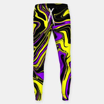 Miniaturka Purple Yellow and Black Psychedelic Melt Jogger Sweatpants, Live Heroes