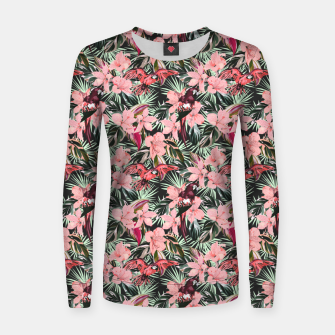 Miniatur Birds in the tropical bloom 7 Sudadera para mujeres, Live Heroes