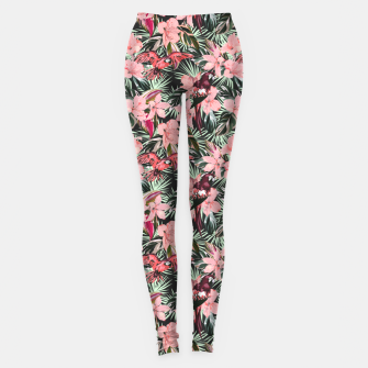 Miniatur Birds in the tropical bloom 7 Leggings, Live Heroes