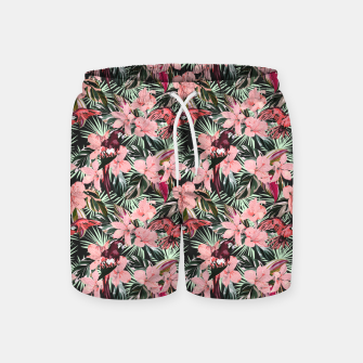 Miniatur Birds in the tropical bloom 7 Pantalones de baño, Live Heroes