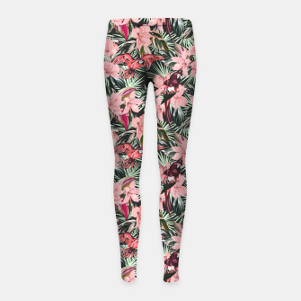Miniatur Birds in the tropical bloom 7 Leggings para niña, Live Heroes