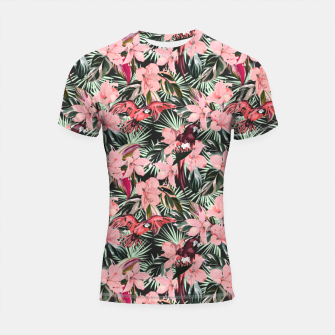 Miniatur Birds in the tropical bloom 7 Shortsleeve rashguard, Live Heroes