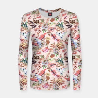 Miniatur Birds in the tropical bloom 2 Sudadera para mujeres, Live Heroes