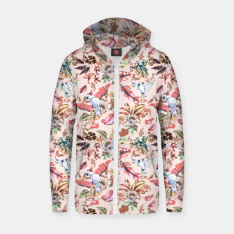 Miniatur Birds in the tropical bloom 2 Sudadera con capucha y cremallera , Live Heroes