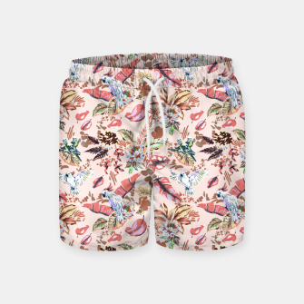 Miniatur Birds in the tropical bloom 2 Pantalones de baño, Live Heroes