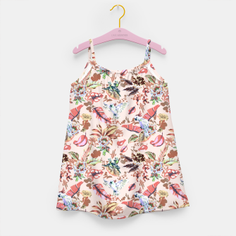 Miniatur Birds in the tropical bloom 2 Vestido para niñas, Live Heroes