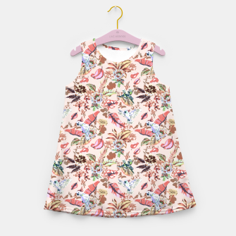 Miniatur Birds in the tropical bloom 2 Vestido de verano para niñas, Live Heroes