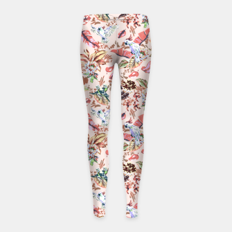 Miniatur Birds in the tropical bloom 2 Leggings para niña, Live Heroes