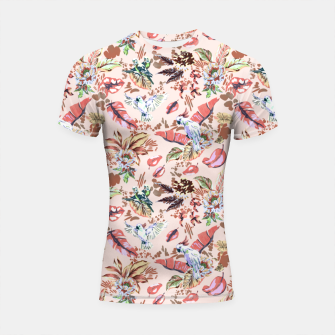 Miniatur Birds in the tropical bloom 2 Shortsleeve rashguard, Live Heroes