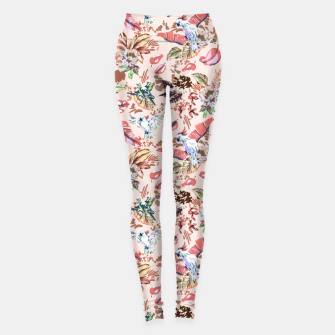 Miniatur Birds in the tropical bloom 2 Leggings, Live Heroes