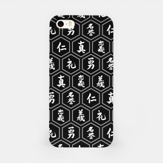 Thumbnail image of Bushido Seven Virtues Japanese Samurai Kanji Pattern Hex BLACK iPhone Case, Live Heroes