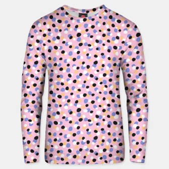 Miniatur Funky pebbles in pink Unisex sweater, Live Heroes