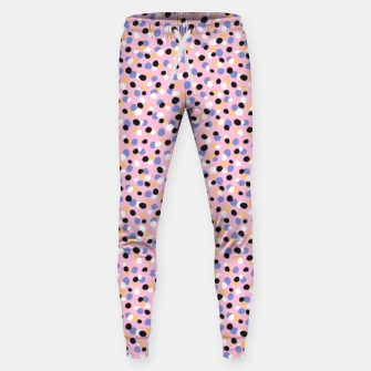 Funky pebbles in pink Sweatpants Bild der Miniatur