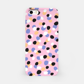 Funky pebbles in pink iPhone Case Bild der Miniatur