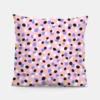 Funky pebbles in pink Pillow Bild der Miniatur