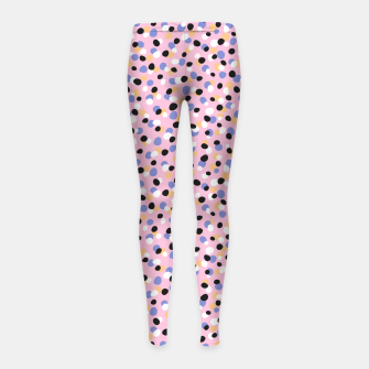 Funky pebbles in pink Girl's leggings Bild der Miniatur