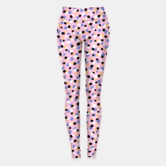Funky pebbles in pink Leggings Bild der Miniatur