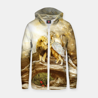 Thumbnail image of THE STRENGTH Sudadera con capucha y cremallera , Live Heroes