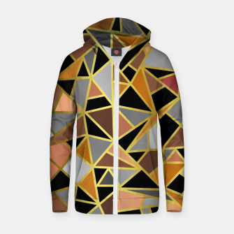 Thumbnail image of Geometric Shapes Zip up hoodie, Live Heroes