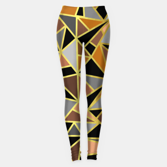 Miniatur Geometric Shapes Leggings, Live Heroes