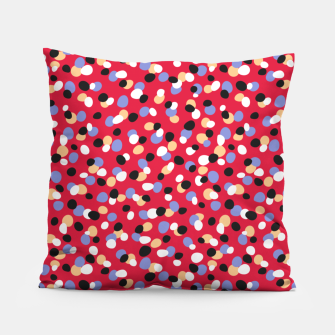 Thumbnail image of Funky pebbles in red Pillow, Live Heroes