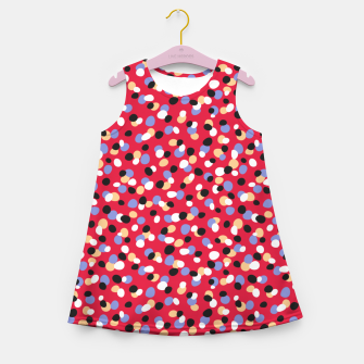 Miniatur Funky pebbles in red Girl's summer dress, Live Heroes