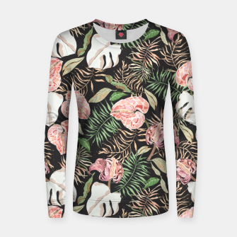 Miniaturka Wild bloom jungle dark Sudadera para mujeres, Live Heroes