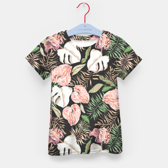 Miniaturka Wild bloom jungle dark Camiseta para niños, Live Heroes