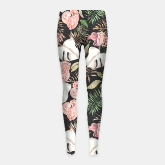 Miniaturka Wild bloom jungle dark Leggings para niña, Live Heroes